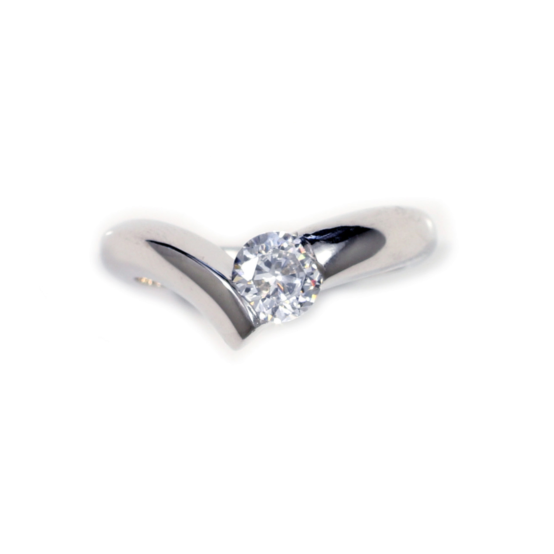 Bypass Solitaire Ring