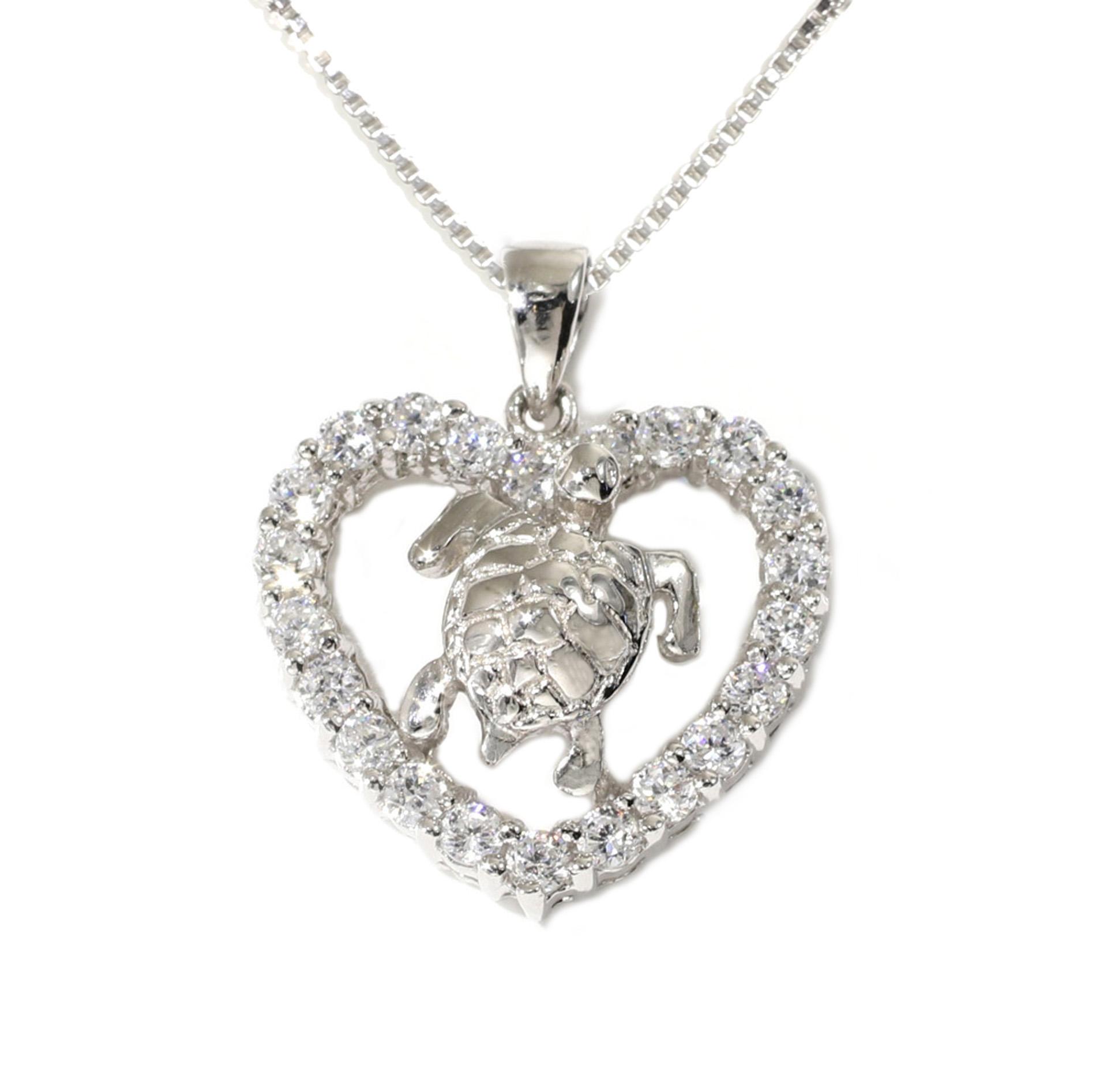 Tamara g designs sea turtle in a heart halo pendant sea turtle in a heart halo pendant aloadofball Choice Image