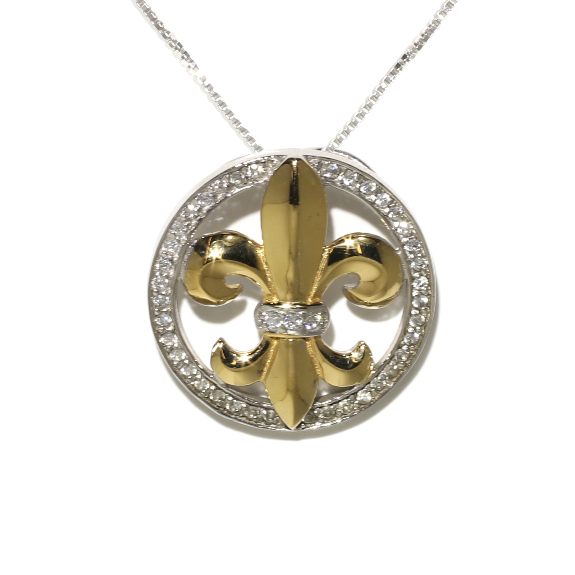 Tamara g designs two tone fleur de lis pendant image created by iconasys shutter stream aloadofball Image collections