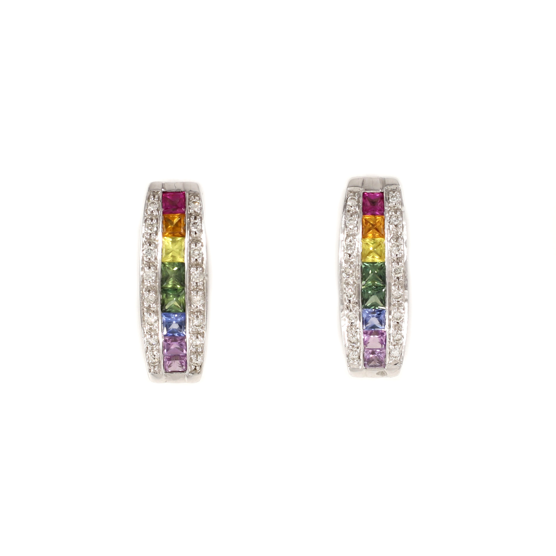 Rainbow Sapphire Earrings