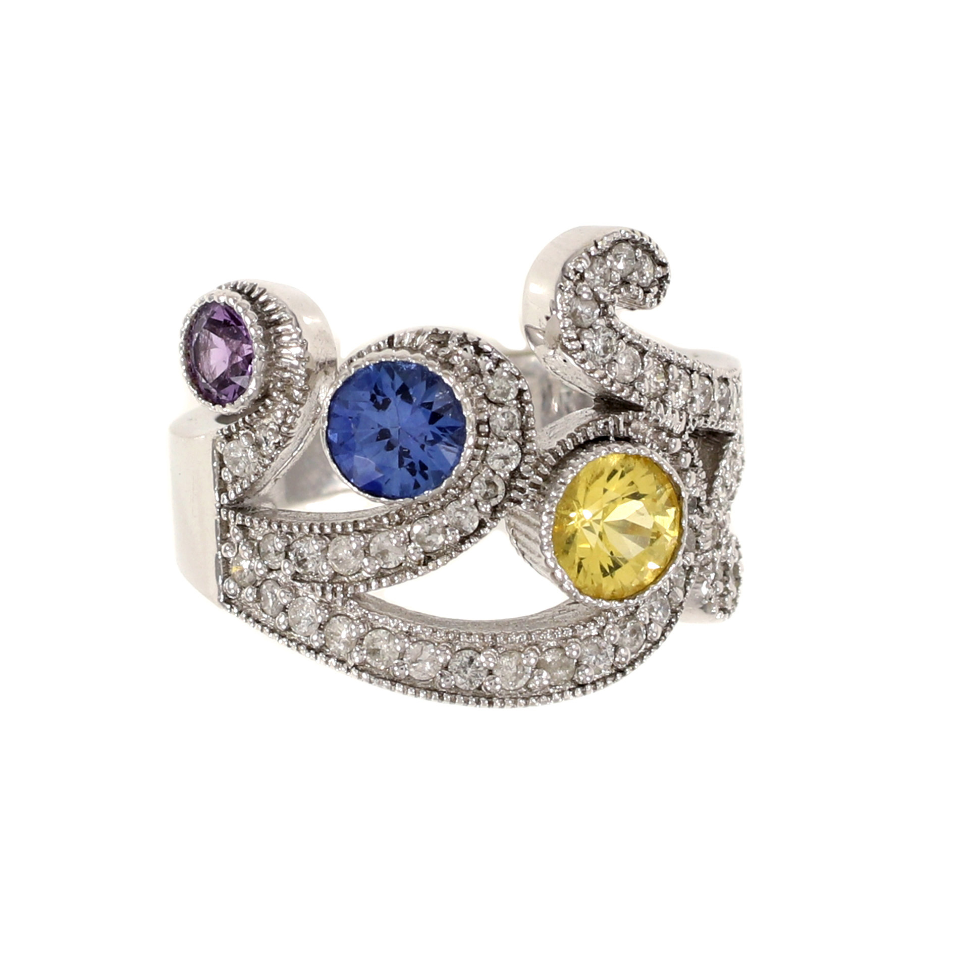 Crown Sapphire Ring