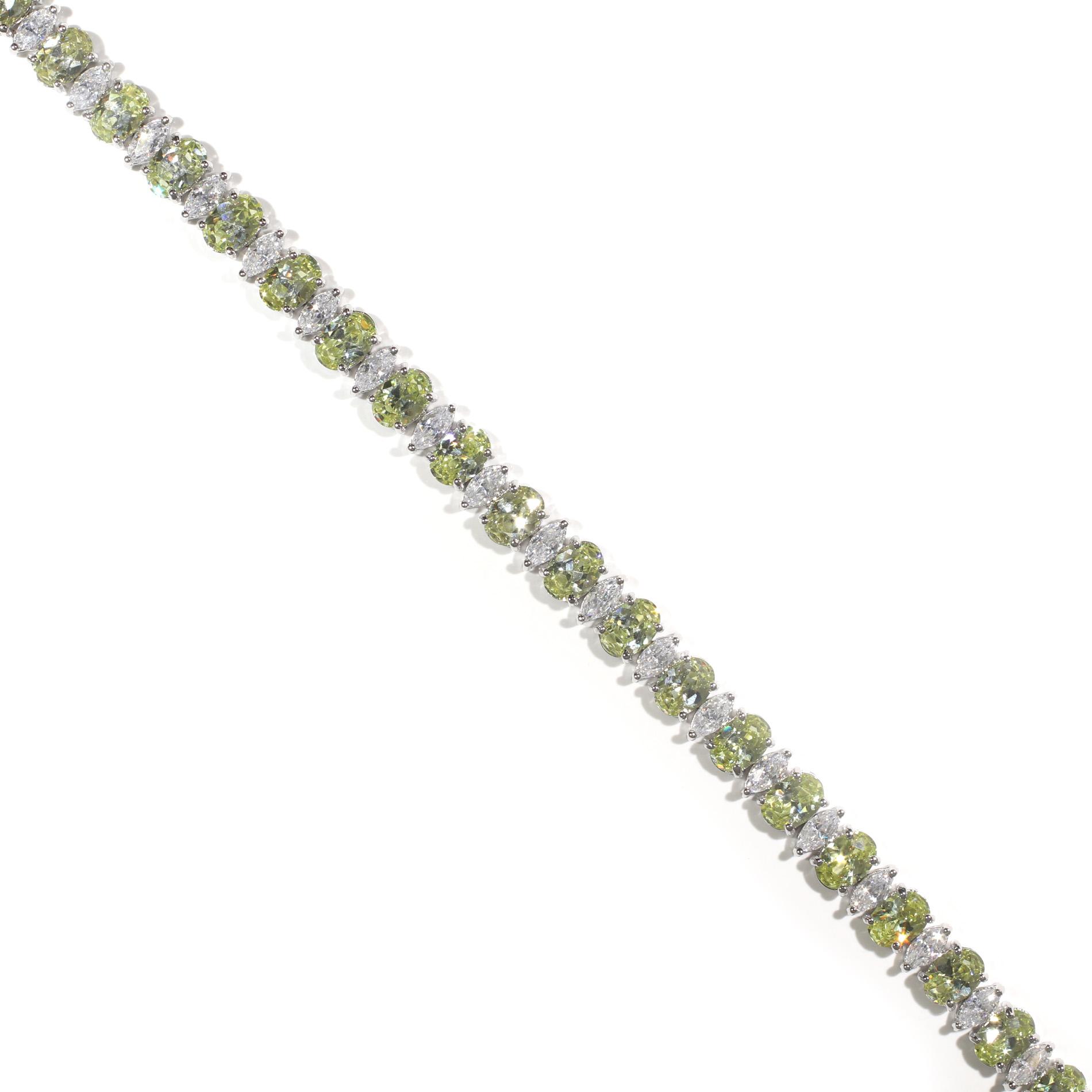 Peridot Tennis Bracelet