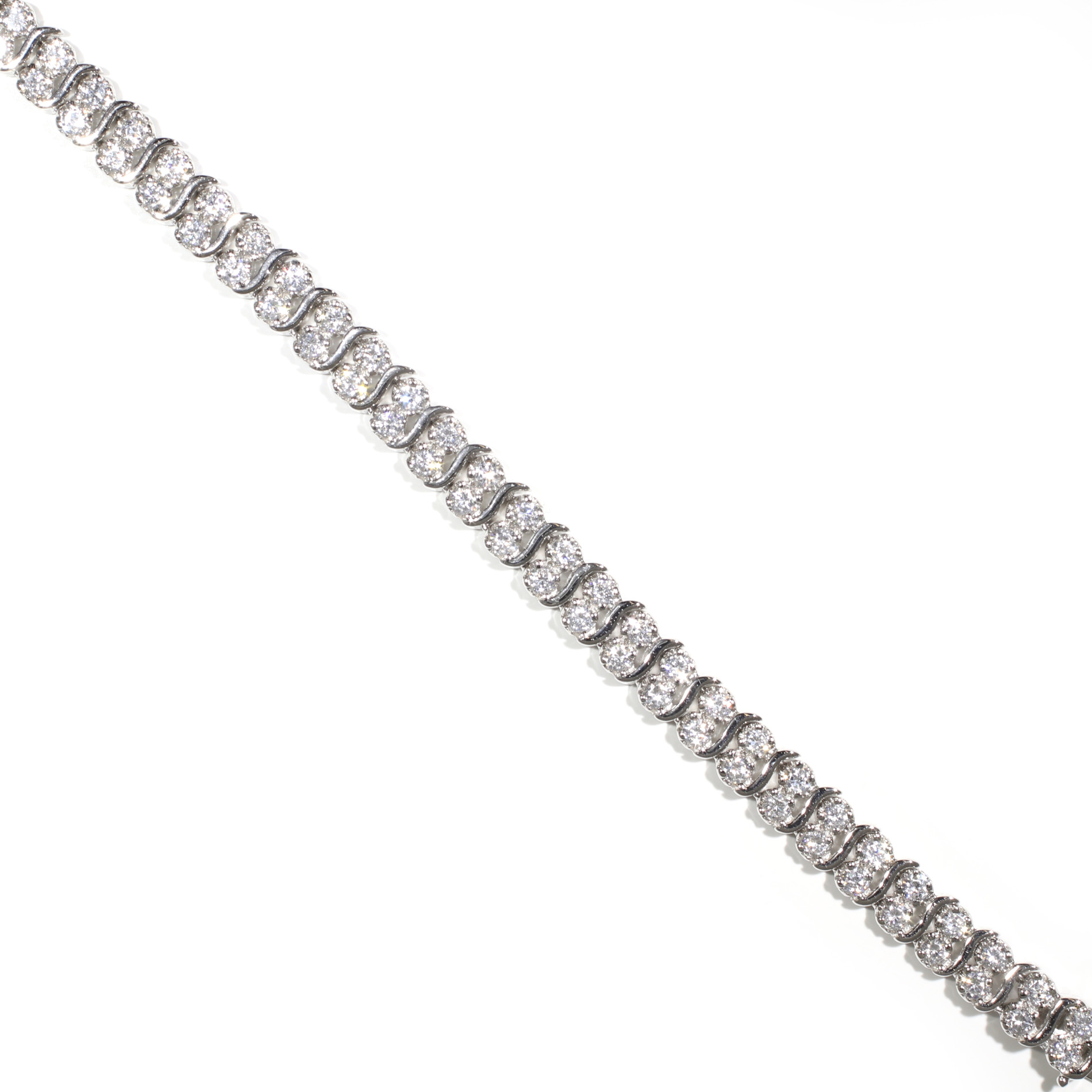 "Double Row ""S"" Tennis Bracelet"