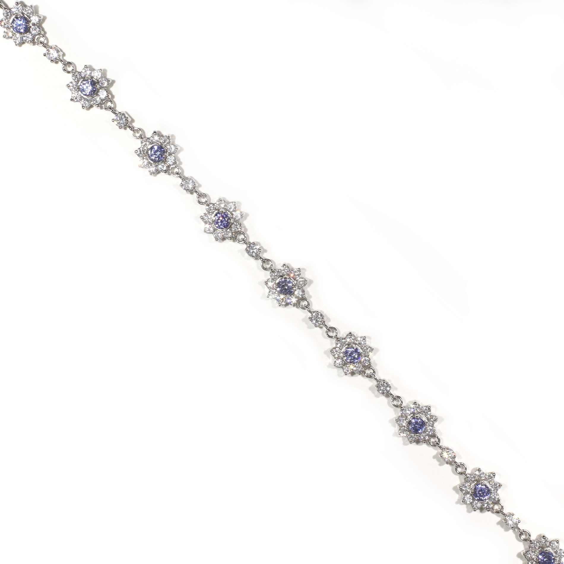 Halo Tanzanite Bracelet