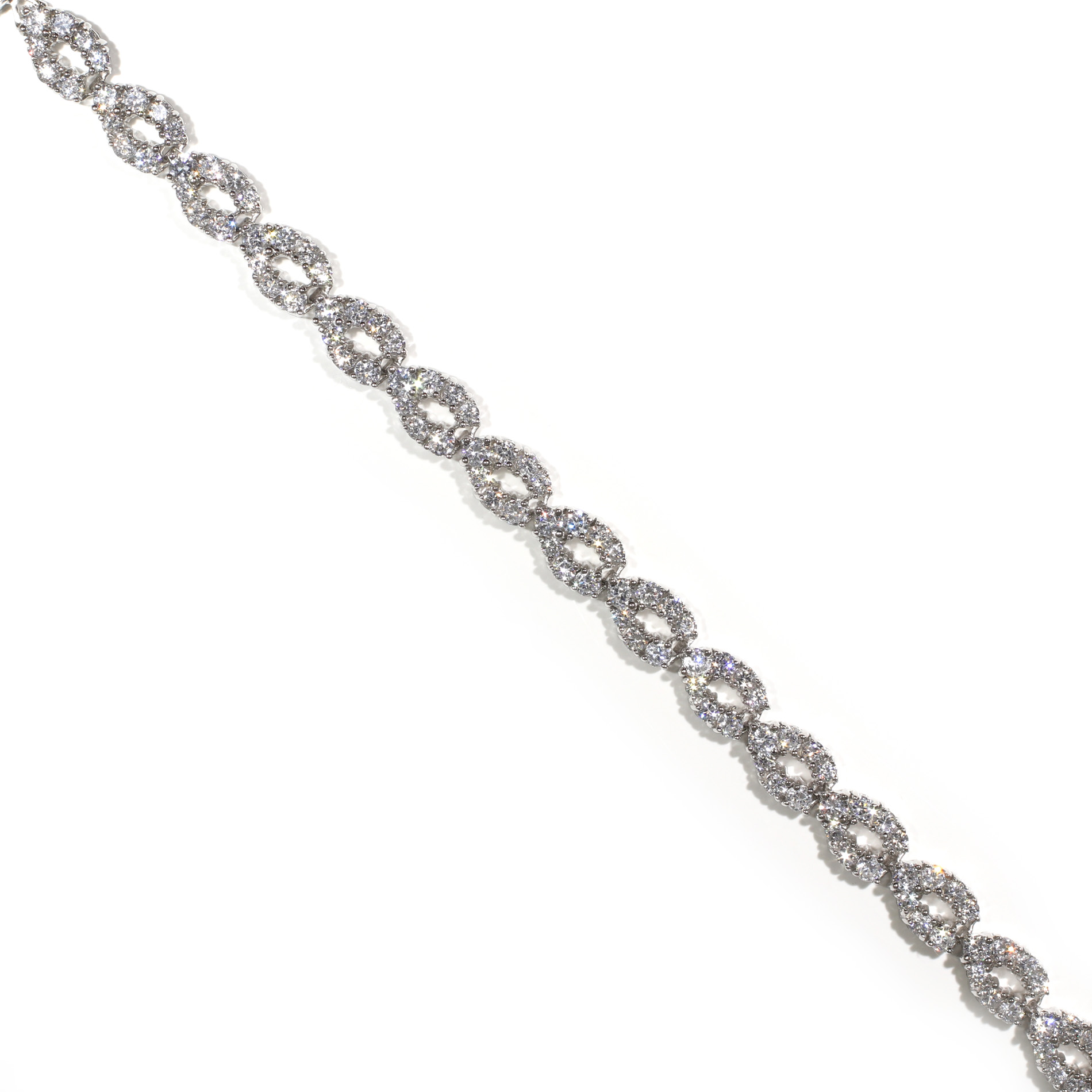 Crossover Tennis Bracelet