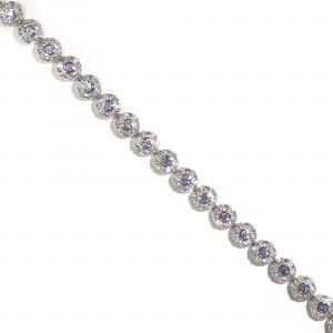 Floral Tanzanite Bracelet