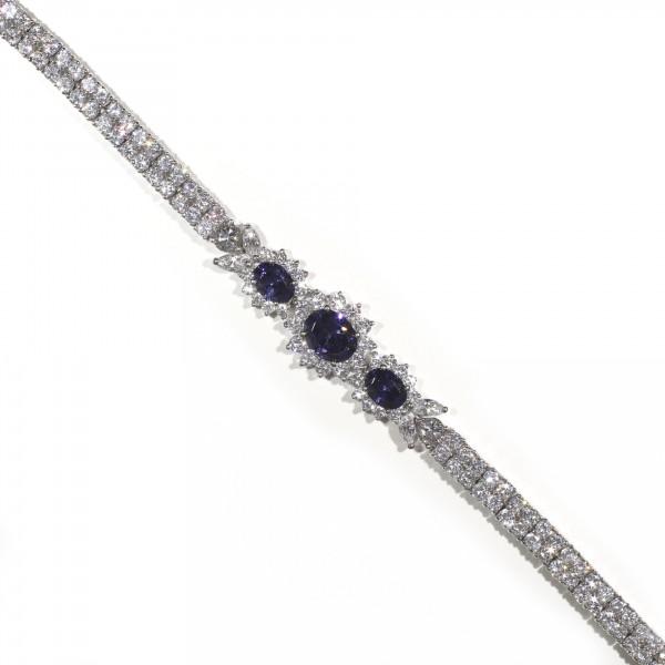 Halo Tanzanite Bracelet 1
