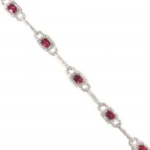 Vintage Look Ruby Bracelet