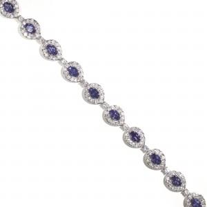 Tanzanite Peacock Halo Bracelet