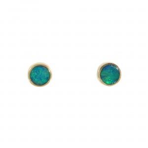 Boulder Opal Stud Earrings