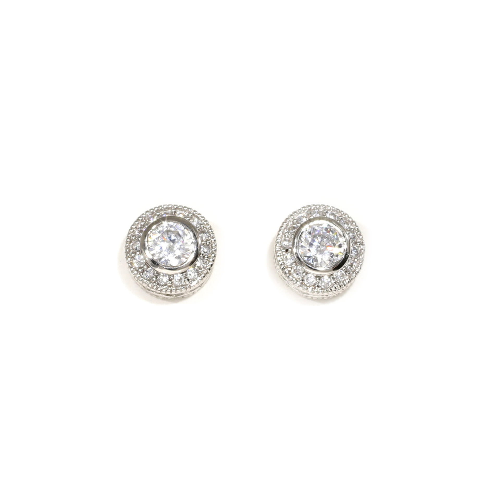 Vintage Halo Stud Earrings