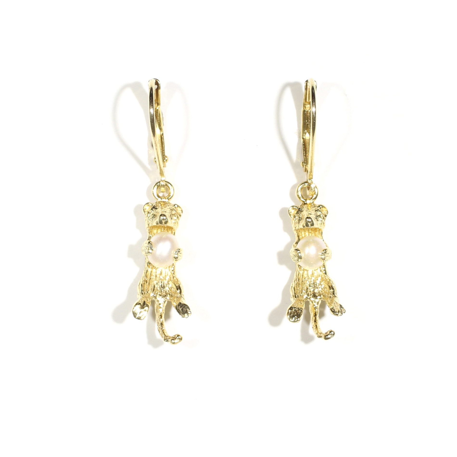 Small Sea Otter On A Leverback Earring