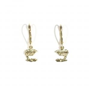 Small  Cypress Leverback Earrings