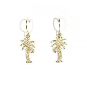 Mom And Baby Palm Tree Earrings