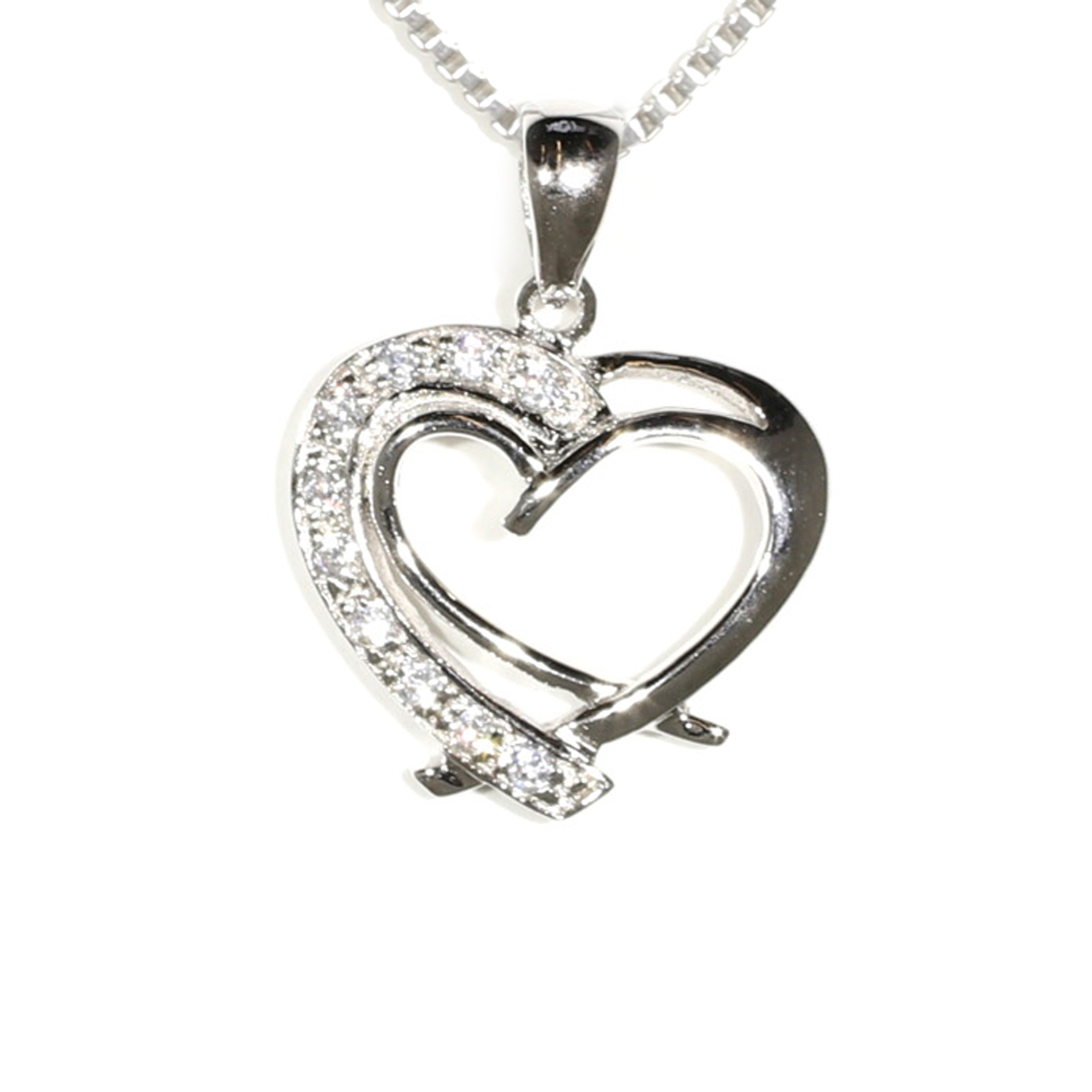 Heart Within A Heart Pendant