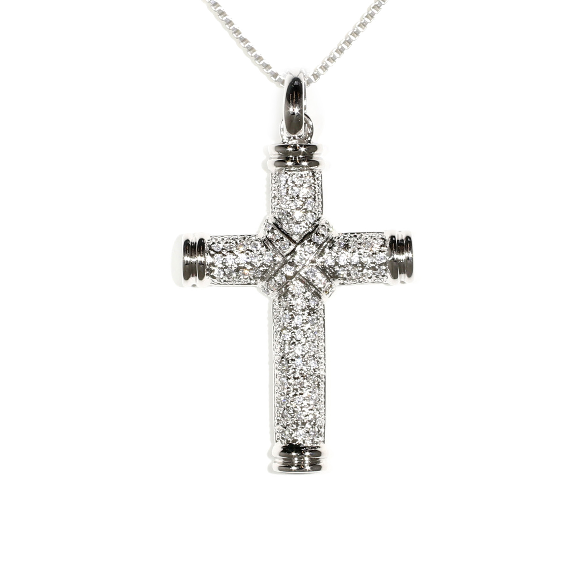 Large Pavé Cross Pendant