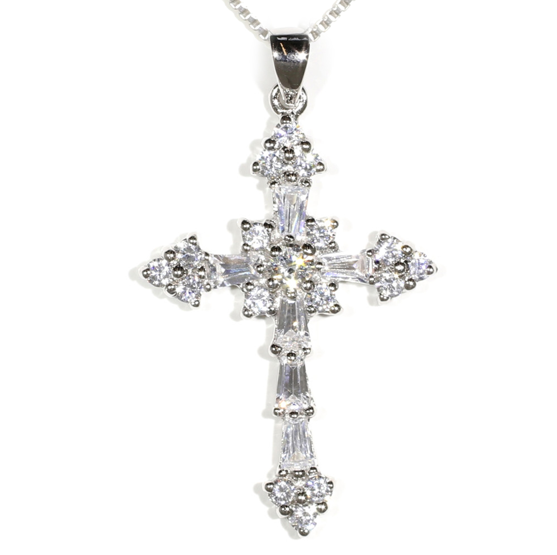 Large Brilliant Cross Pendant