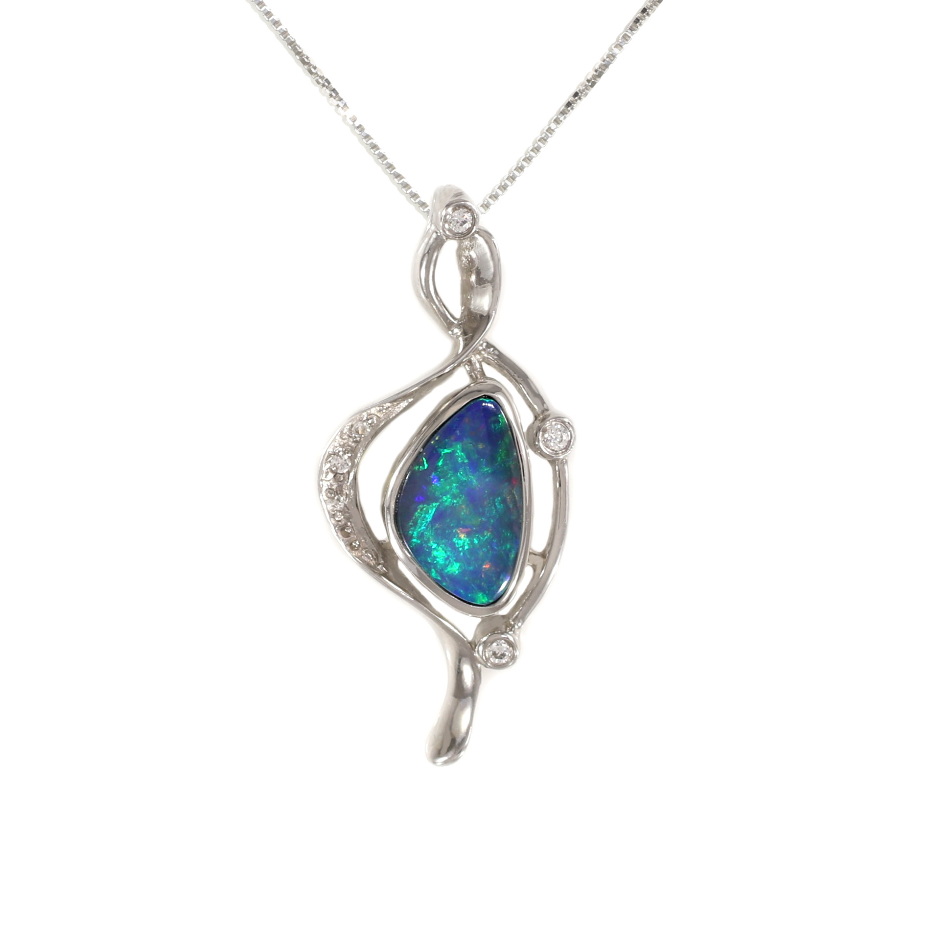boulder gold opal yellow and colored products diamonds pendant