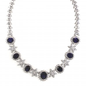Floral Inspired Sapphire Necklace