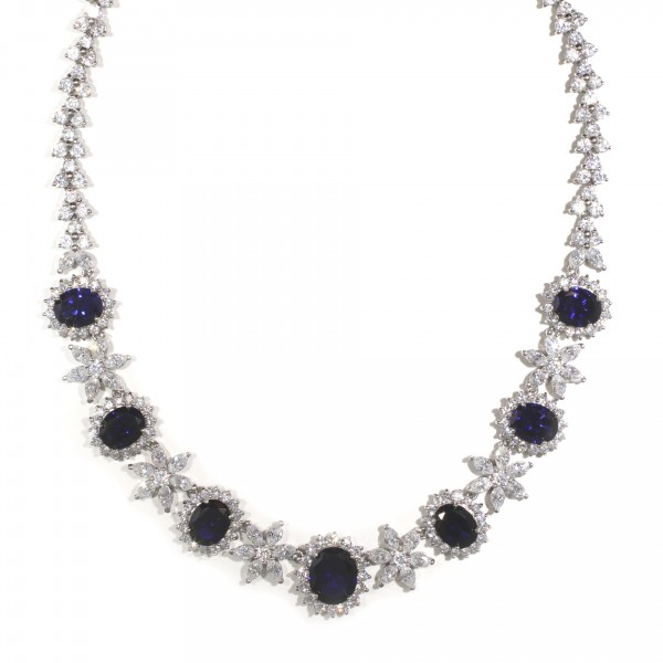 Floral Inspired Sapphire Necklace 1