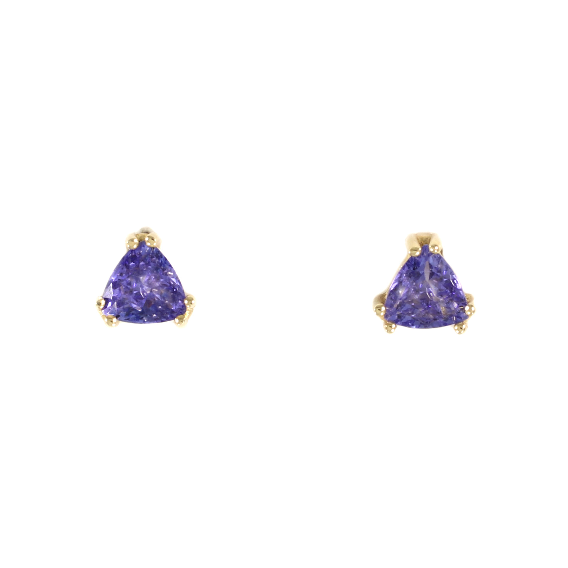 gold trillion with ring tw tanzanite in yellow diamonds