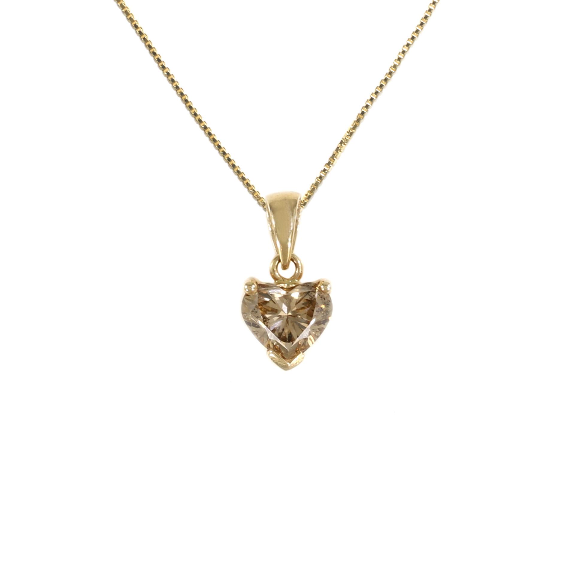 Tamara g designs champagne heart solitaire pendant champagne heart solitaire pendant aloadofball Choice Image