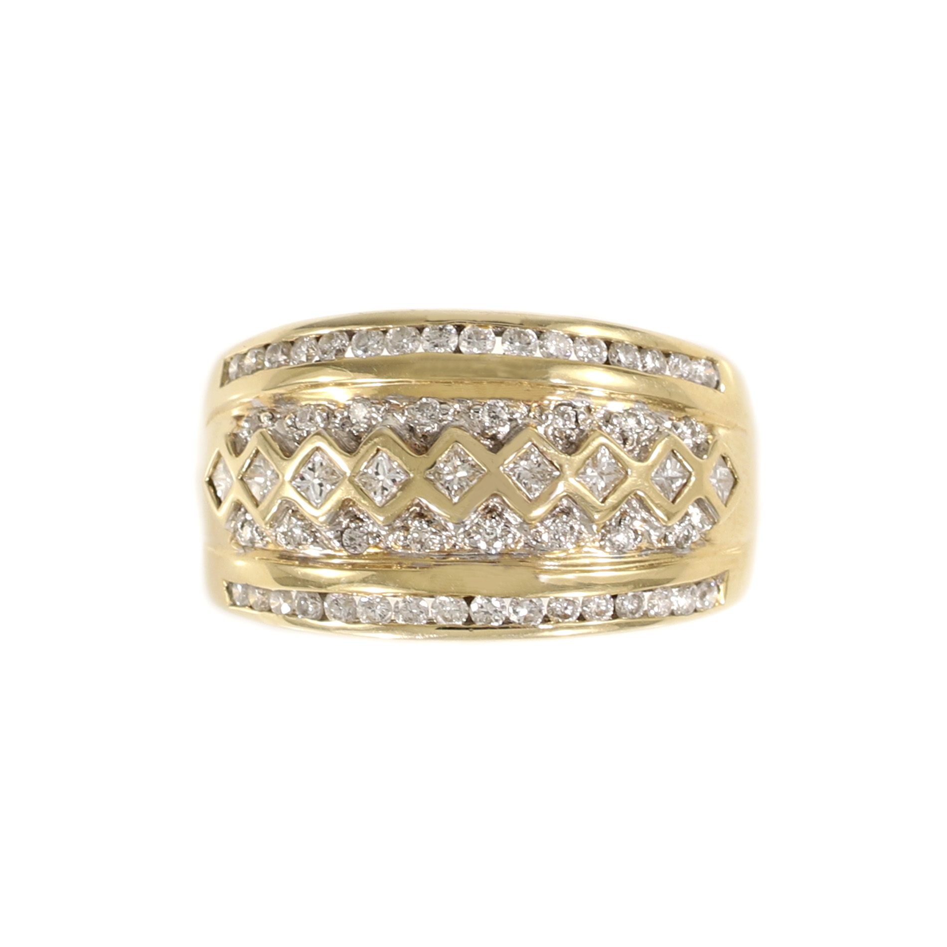 rings large thick solitaire her gold for of wedding diamond wide stones band size with bands