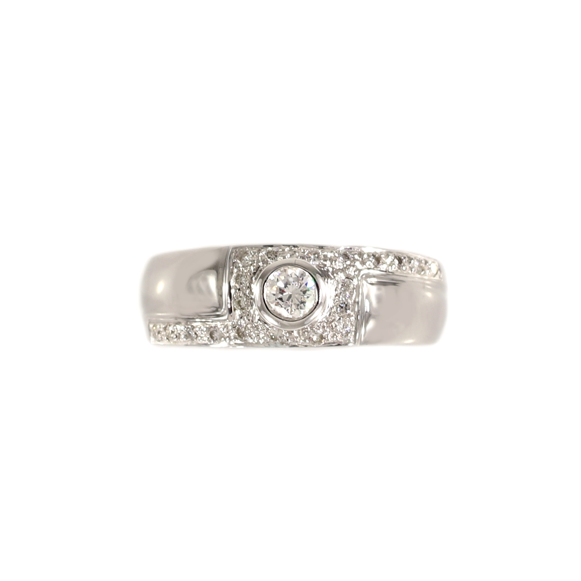 designs michael mark diamond bezel set white ring gold rings
