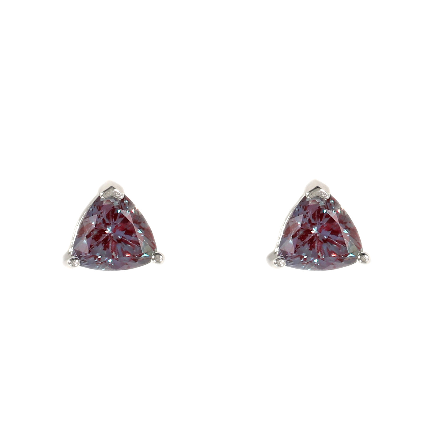 Trillion Alexandrite Stud Earrings