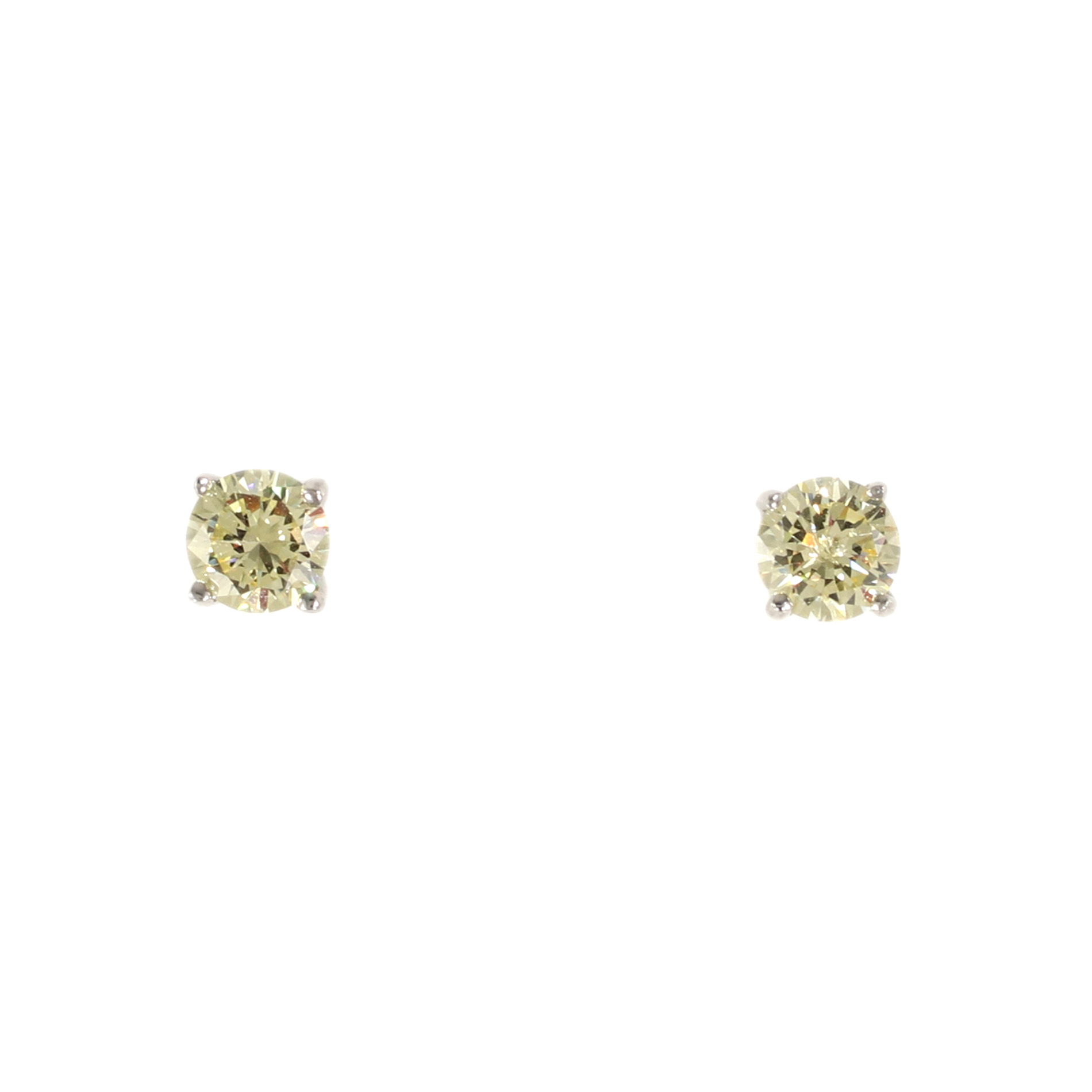 diamond s canary gold ebay yellow studs jackets for round earrings y itm earring