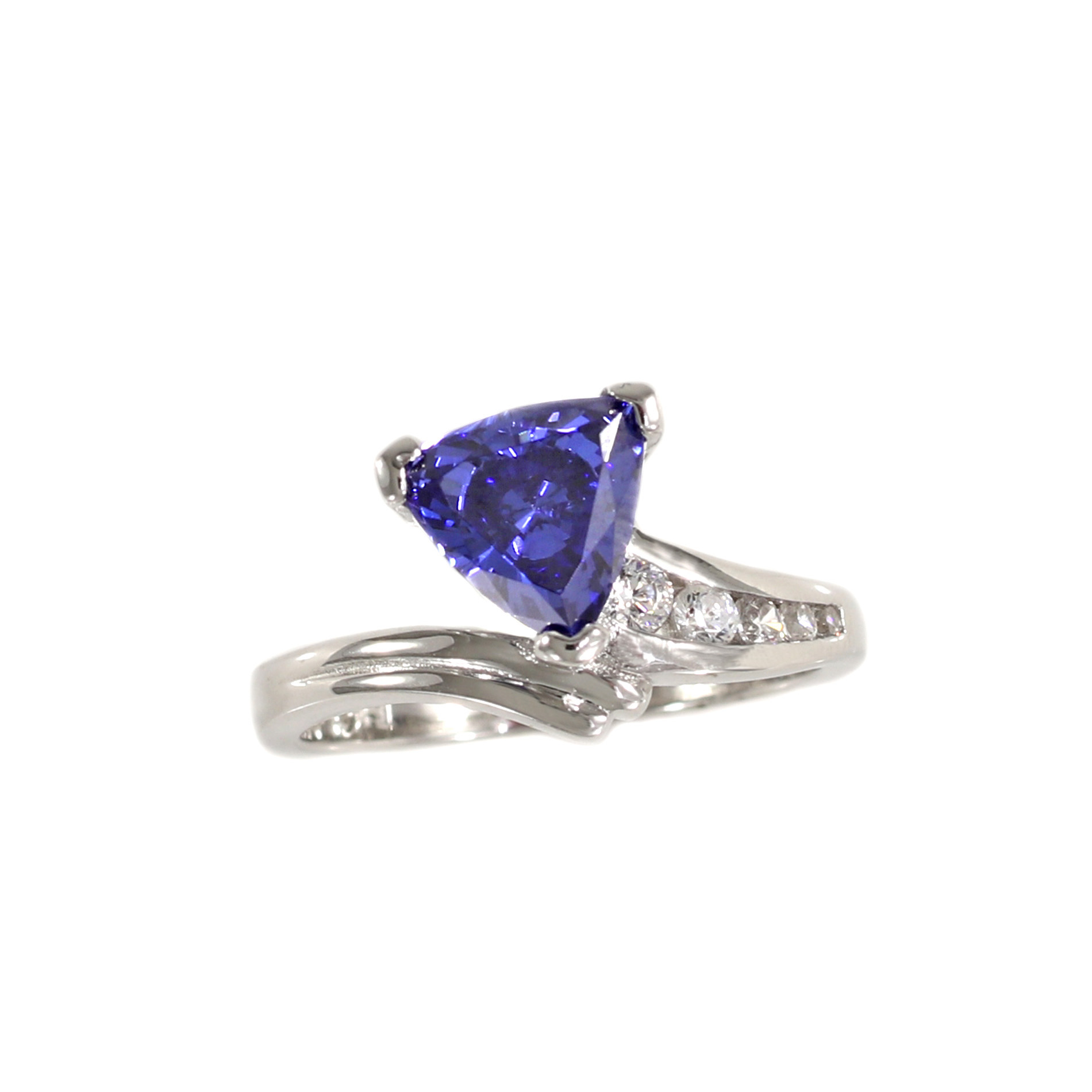 tanzanite yellow diamonds with tw ring in trillion gold