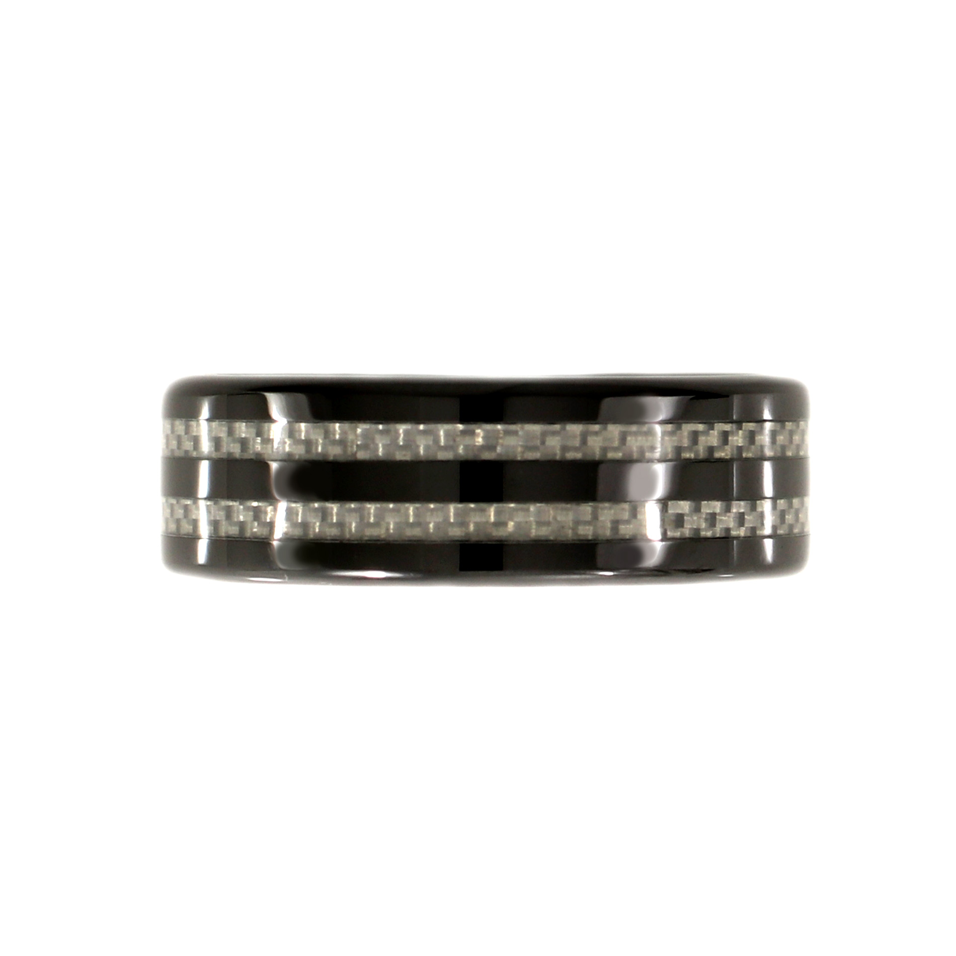 Ceramic Mens Ring