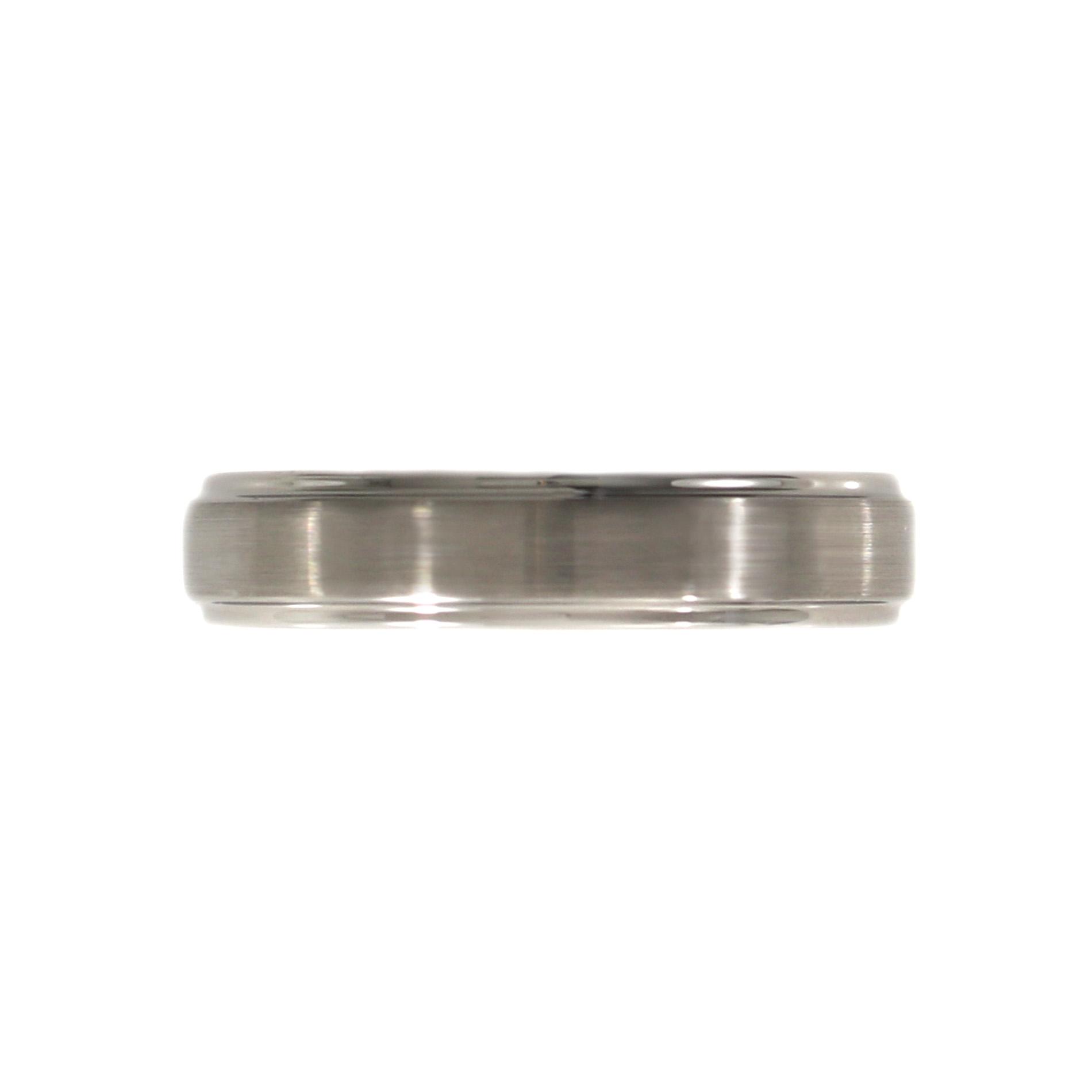 Brushed Tungsten Ring