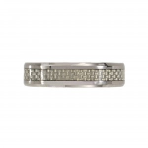 Tungsten Checkerboard Ring