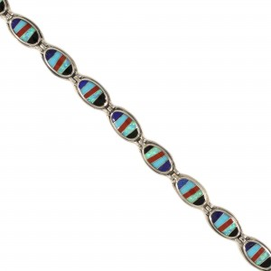 Southwest Style Inlay Bracelet