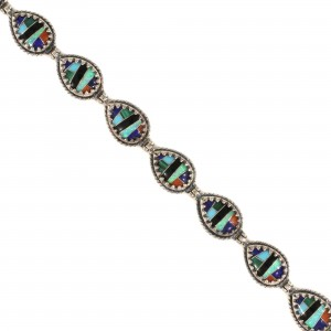 Southwest Style Opal Inlay Bracelet