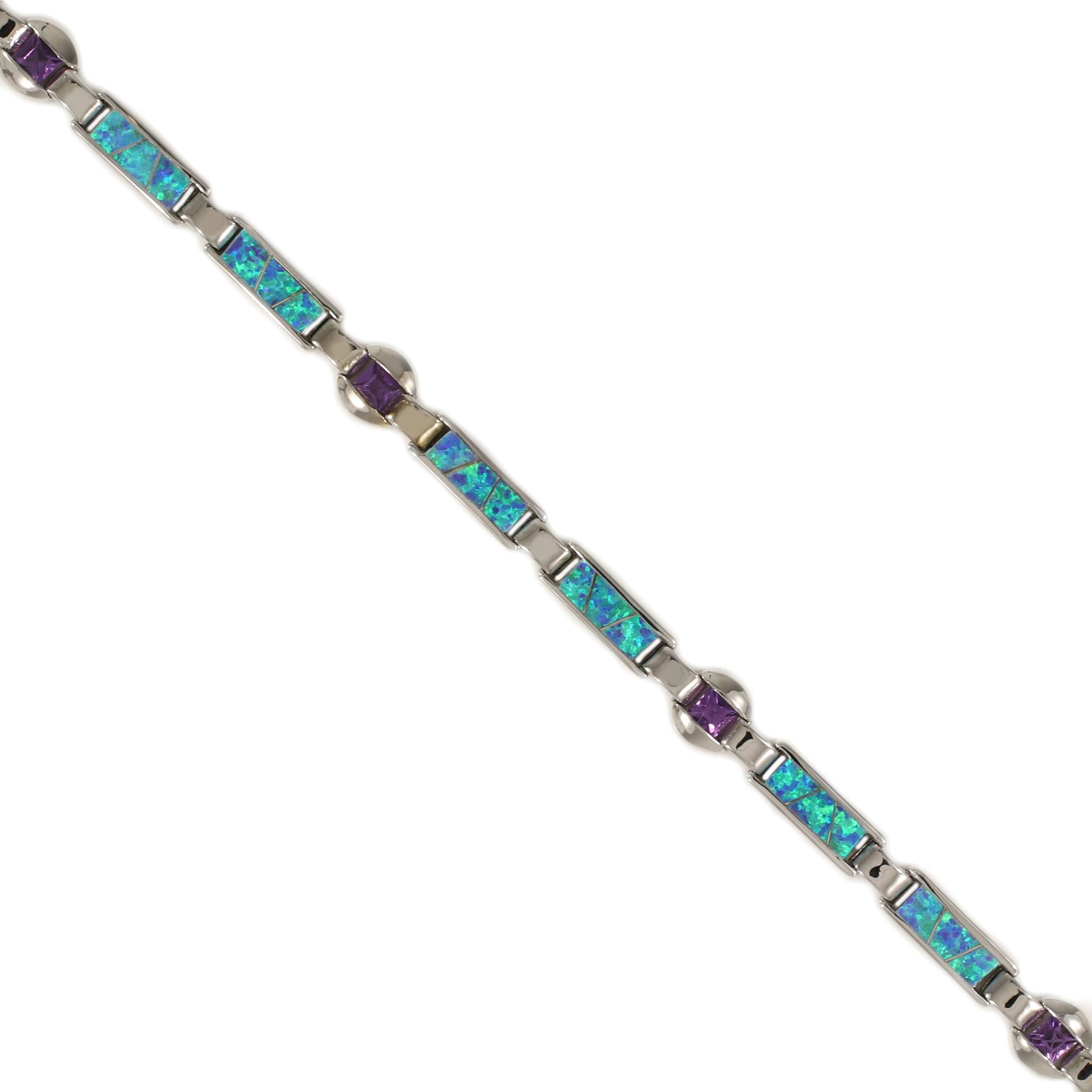 Opal and Amethyst Bracelet