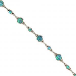 Opal Sterling Silver Bracelet