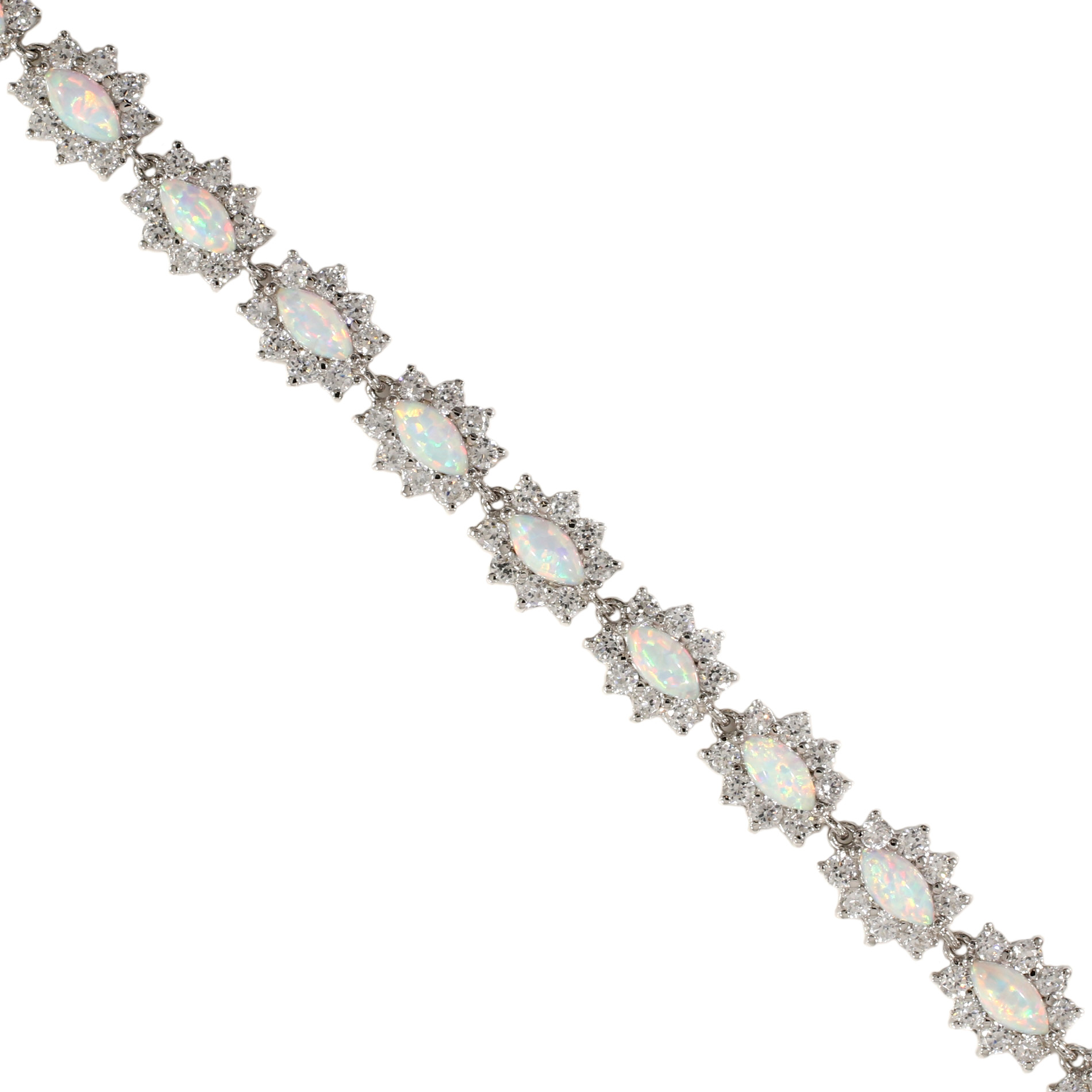Opal and Trillion Bracelet