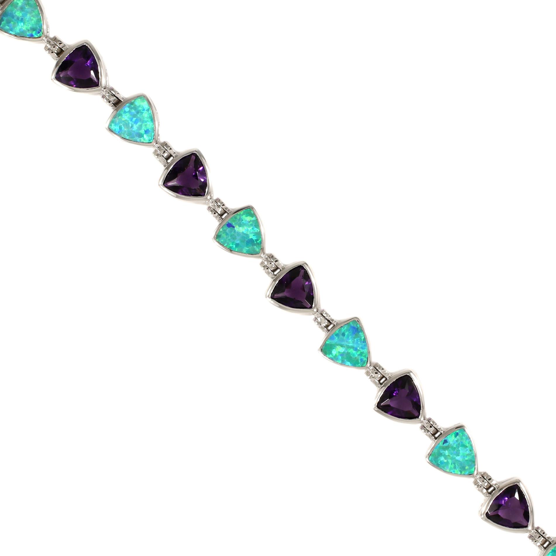 Opal & Amethyst Bracelet